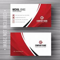 Visiting Card Format Download Free White Business Card With Red Details Template For Free