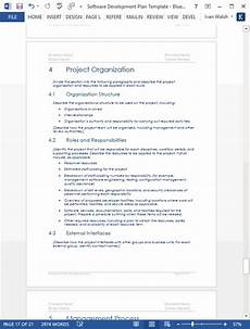 Software Development Plan Software Development Plan Template Ms Word Templates