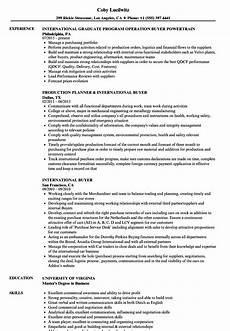 Sample Buyer Resume International Buyer Resume Samples Velvet Jobs