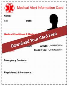 Medical Alert Cards Templates 8 Reasons Why You Need A Free Medical Alert Card