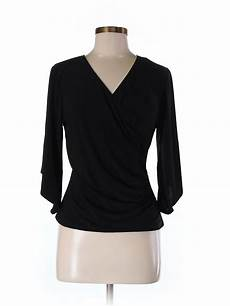Coco Bianco Size Chart Coco Bianco Solid Black 3 4 Sleeve Top Size M 63 Off