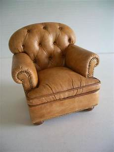 whisenant tobacco leather club chair 1 12th scale