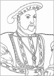 coloring model king henry 8th digital drawing