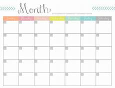 Monthly Calendar Printable Free Monthly Calendar Free Printable