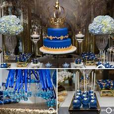 royal blue and gold prince shower baby shower ideas