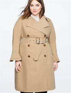 plus trench coats for racing ruffle sleeve trench coat s plus size coats