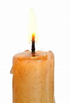 candela accesa fiamma sulla accesa della candela su immagine stock