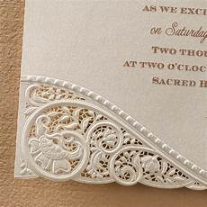 Lace Wedding Invitation Laser Cut Vintage Lace Wedding Invitations Little Flamingo