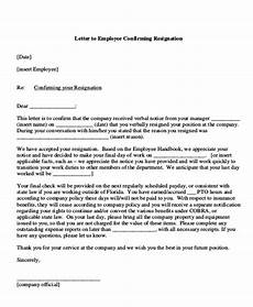 Departure Letter To Employer Free 7 Sample Employment Resignation Letter Templates In