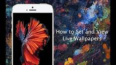 iphone 6s live wallpaper how to set live wallpapers on iphone 6s and iphone 6s plus