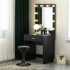 Makeup Vanity With Lights Tribesigns Vanity Set With Lighted Mirror Makeup Dressing