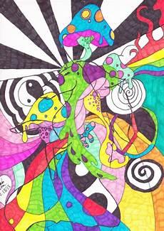 Trippy Drawings Trippy Mushroom Drawing At Getdrawings Free Download