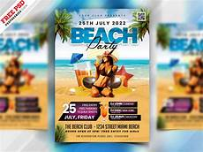 Beach Party Flyer Template Free Summer Beach Party Flyer Template Download Psd