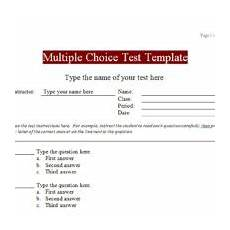 Creating Multiple Choice Tests Education Excel Templates Archives Excel Tmp