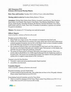Examples Of Meeting Minutes 5 Formal Minutes In A Meeting Templates Pdf Free