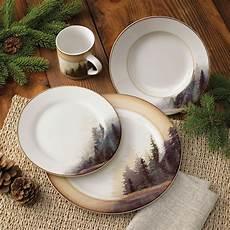 Designer Dishes Misty Forest Dinnerware Set 16 Pcs