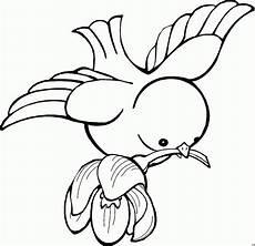 Malvorlage Vogel Fliegend Vogel Mit Blume Ausmalbild Malvorlage Comics Bei