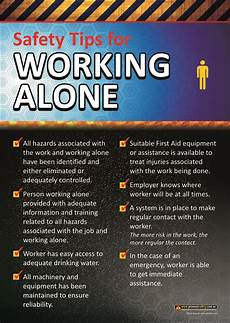 Office Meeting Topics Working Alone Workplace Safety Poster