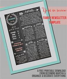 Christmas Family Newsletter Templates Free Family Newsletter Template Christmas Letter Template