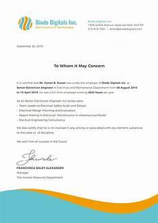 Service Certificate Model Free Electrician Experience Certificate Certificate