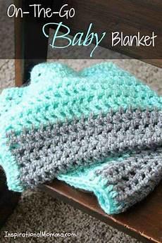 on the go crochet baby blanket