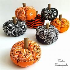 bandana pumpkins fabric pumpkins for country