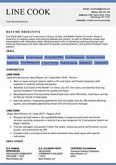 Example Of Chef Resume Line Cook Resume Sample Amp Writing Tips Resume Genius