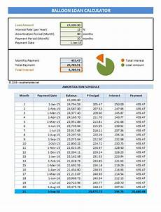 Simple Loan Calculator Excel Balloon Loan Payment Calculator Excel Templates