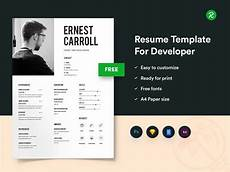 Portfolio And Resumes Free Resume Template For Developers With Portfolio Get