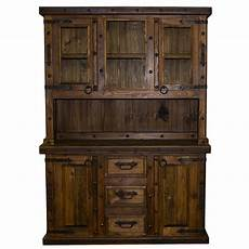 2 rustic reclaimed china cabinet western real wood