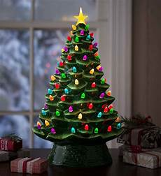 Ceramic Lighted Christmas Trees For Sale Lighted Ceramic Christmas Tree Battery Operated Green