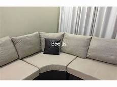 Jute Sofa Png Image by Leather And Textured Jute 7 Seater L Shape Sofa Set With
