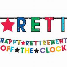 Retirement Banners Happy Retirement Celebration Letter Banners 2ct Party City
