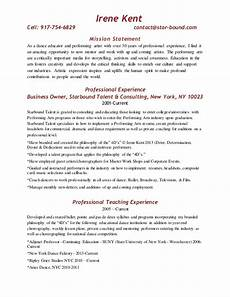 Mission Statement Examples For Resume Bus Resume With Mission Statement