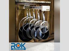 Pull out Cabinet Organizer Pots Pans Lids Hooks Under