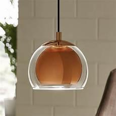 Copper Pendant Light Kitchen Rocamar Copper And Glass Single Pendant