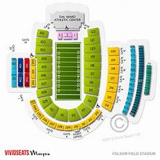 Seating Chart Folsom Field Folsom Field Stadium Seating Chart Vivid Seats
