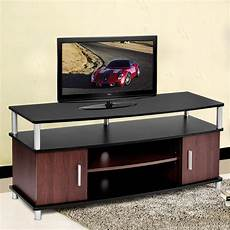 tv stand entertainment media center console storage wood