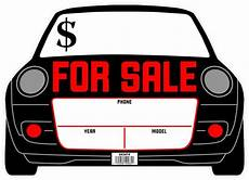 For Sale Sign For Car Car Auto Shape For Sale Fluorescent Sign 10 Quot X14 Windshield