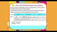 International Value Chart Explore Math Class 4 Unit 01 11 Indian And International
