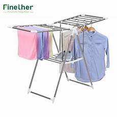 clothes drying hanger egg finether collapsible adjustable indoor outdoor gullwing