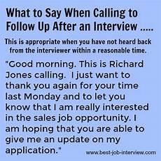 Should I Call After An Interview Job Interview Follow Up Help