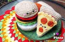 amigurumi food pizza amigurumi