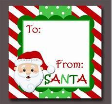 Santa Tag Santa Gift Tags Printable Instant Download