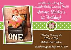 Monkey Birthday Invitations Printable Birthday Invitations Girls Mod Monkey 1st Party