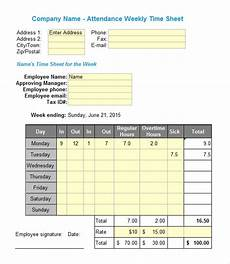 Free Excel Time Sheet Template Free 18 Sample Excel Timesheets In Excel