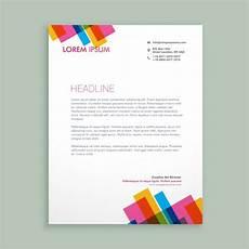 Creative Letterhead Samples Creative Colorful Letterhead Vector Free Download