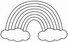 Rainbow Printable Template Cloud Template Printable Clipart Best