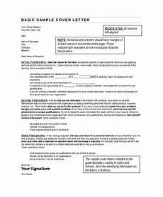 Basic Sample Resume Cover Letter Free 8 Sample Cover Letter For Resume Templates In Pdf