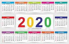 2020 Calendar Free Download 210 2020 Calendar Vectors Download Free Vector Art